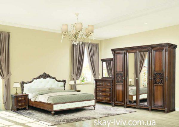 Аманда спальня з 4-х дверною шафою горіх