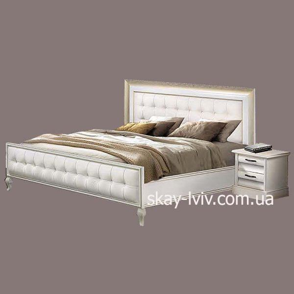 С-2 Ліжко (с/м) 160х200 білий/золото