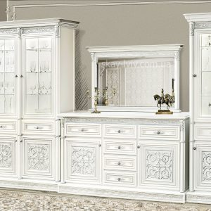 Тоскана Нова Комплект №3 білий/срібло