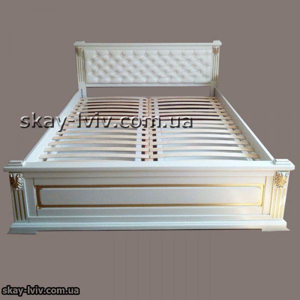 Прайм ліжко м'яке узг патина декор