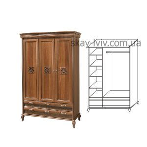 Лаура Нова Шафа 3-х дверна