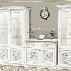 Тоскана Нова Вітальня Варіант №2 білий/срібло
