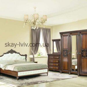 Аманда спальня з 3-х дверною шафою горіх