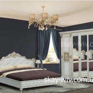 Аманда спальня з 5-ти дверною шафою білий/золото