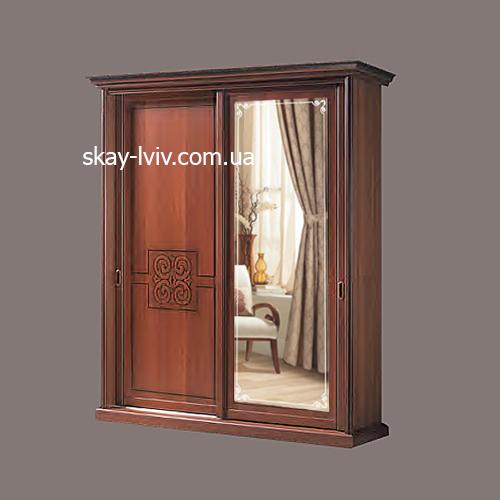 С-3 Шафа 2-х дверна з дзеркалом горіх